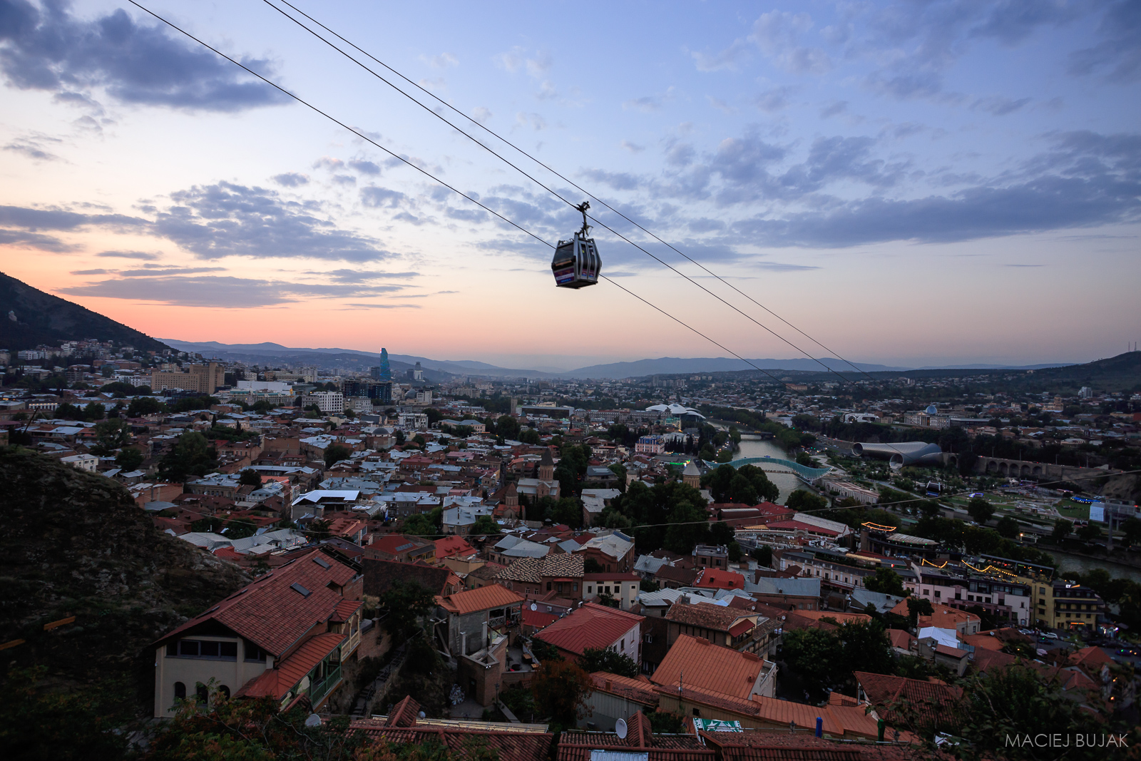 Cable car in Tbilisi, Georgia